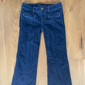 American Eagle Wide Leg Hipster Jean